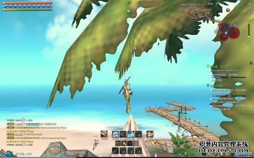 剑灵妹子施展轻功飞上房顶 风景美不可言